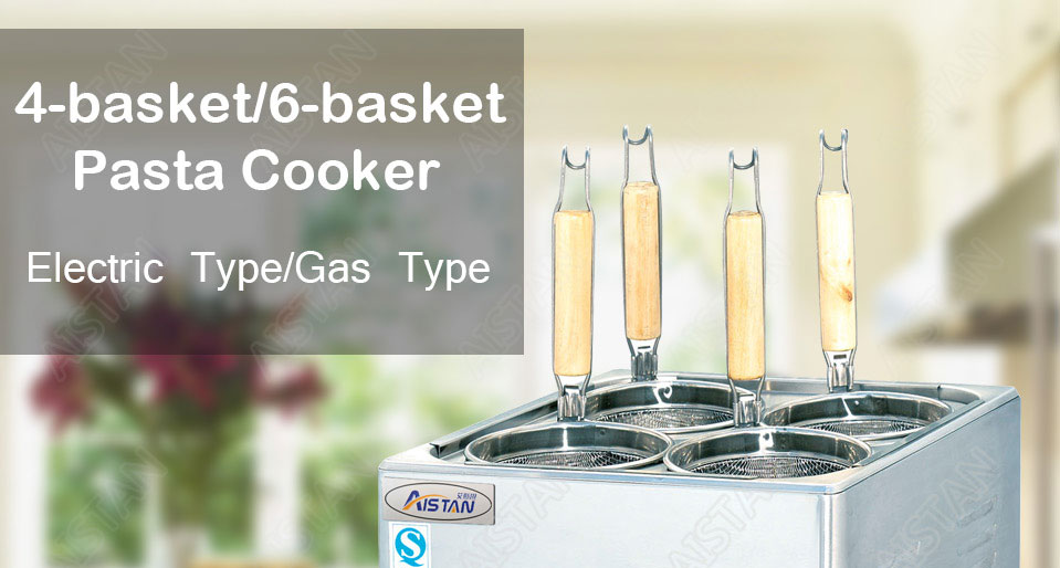 EH674  4-basket electric counter top pasta cooker for commerical use 1