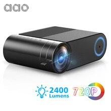 AAO YG500 Güncelleme YG420 Mini led projektör Yerli 1280x720 HD Taşınabilir Video Beamer YG421 Kablosuz WiFi Çoklu Ekran 3D projektör