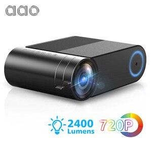 Image 1 - AAO YG500 Updage YG420 מיני LED מקרן Native 1280x720 HD נייד וידאו Beamer YG421 אלחוטי WiFi רב מסך 3D Proyector