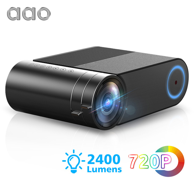 AAO YG500 Updage YG420 Mini LED Projector Native 1280x720 HD Portable Video Beamer YG421 Wireless WiFi Multi Screen 3D Proyector
