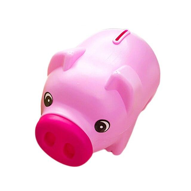 Money Box Portable Cute Plastic Piggy Bank Saving Cash Coin Children Toy Kids Gifts