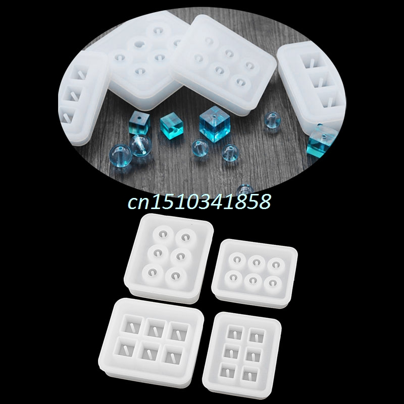 JAVRICK Jewelry Sphere Square body Pendant Casting Mold Tools Silicone Resin Craft DIY Beads For Making