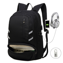 Winmax Casual Men School Laptop Backpacks Lock Large Capacity Travel Backpack USB Charger Male Stylish for Teenagers