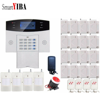 SmartYIBA Burglar Alarm Wireless Home Security GSM Alarm System Kit IOS Android APP Control Two Way Intercom Voice Prompt Alarm