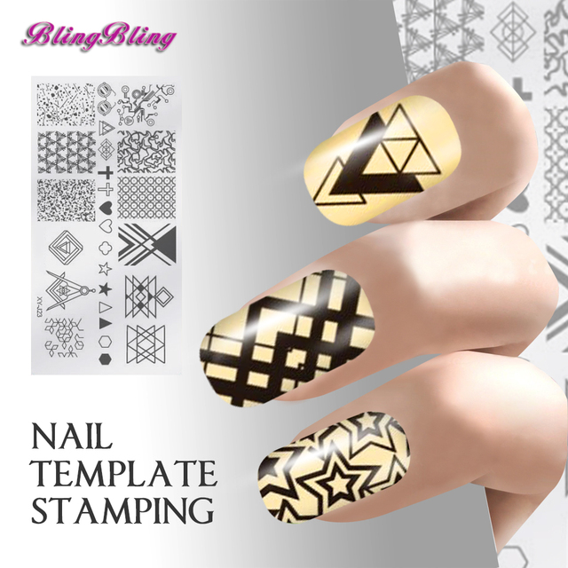 Negative Space Nail Template Stamping Illusion Knoard Nails Art ...
