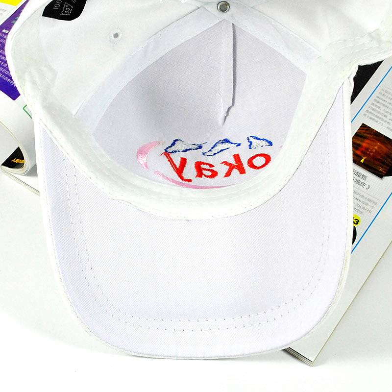 red baseball cap with white p blue hat new fashion girl caps okay letters embroidery hip hop sun