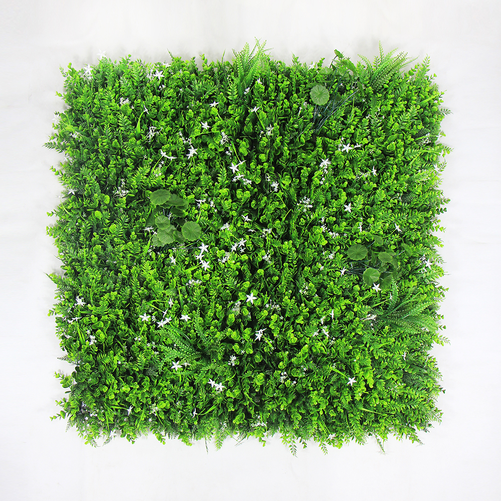 ULAND Outdoor Artificial Boxwood Hedge Privacy Fence Plants 1X1M Topiary Grass Mat Greenery Wall DIY Garden Wedding Decoration uland 6pcs 50cm 50cm artificial photinia hedge bicolor boxwood mat g0602a016 st3