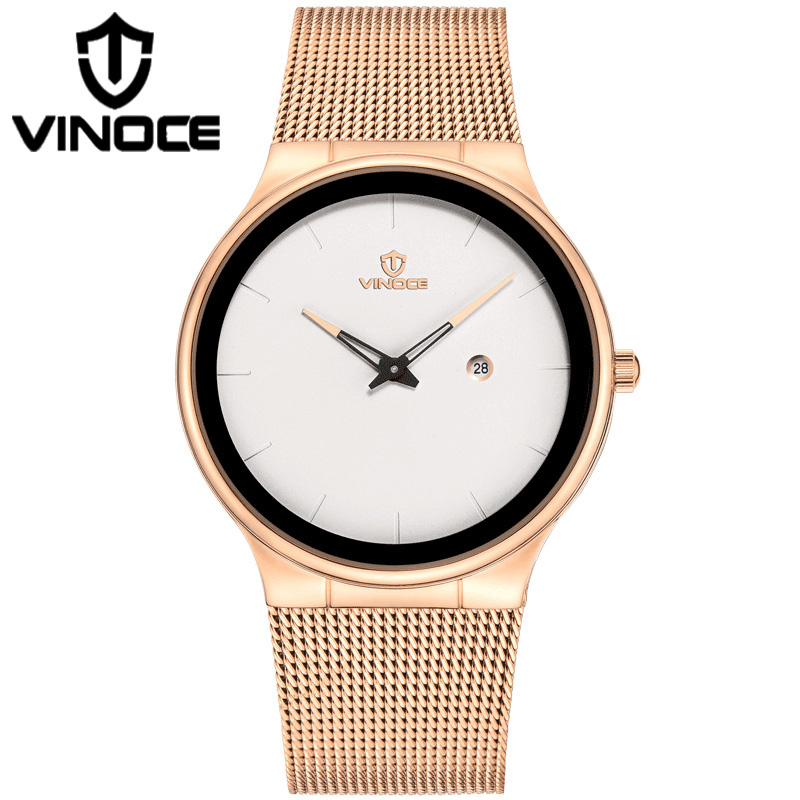 VINOCE 2018 Top Brand Luxury Quartz Watch Women Stainless Steel Band Bracelet Watches Waterproof Relogio Feminino relogio feminino top brand men watches fashion stainless steel analog quartz wrist watch lady luxury mesh band bracelet watch n