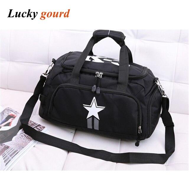 c9ee60499 Hot Sale Casual Fashion Handbag For Men And Women Bag Shoulder Separate  Shoe Bag Large Capacity Duffel Bag Free Shipping Z616