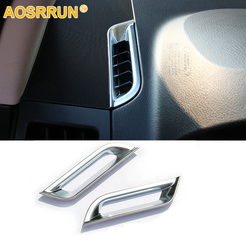 AOSRRUN ABS Cromo Salida de aire acondicionado superior Cubierta - Accesorios de interior de coche