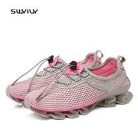 SWYIVY Women Running Shoes Mesh Breathable Super Light Sneakers 2018 Outdoor Cushioning Female Sport Shoes Lace