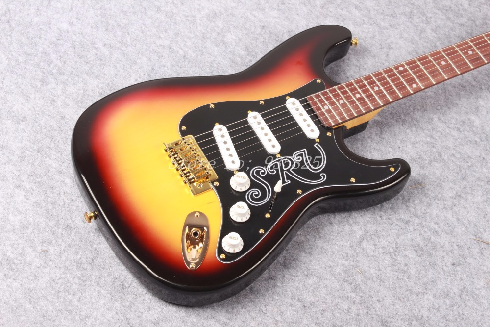 Nouveauté guitare 6 cordes SRV coucher de soleil sunburst guitare électrique!! Livraison gratuite 8
