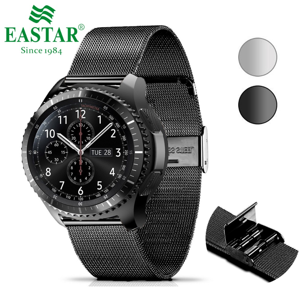 Easy Install Milanese Loop Stainless Steel Watchband Quick Release Pin For Samsung Gear S3 Classic Frontier Wrist Bracelet
