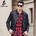 Pioneer Лагерь Осень зима PU кожаная куртка мужчины бренд одежды верхнего качества Мода ветровка мужской куртки и пальто 677174