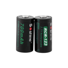 Soshine 3.7V CR123 16340 700mAh Lithium Rechargeable Battery RCR123 CR123A Li-ion Batteries for Laser Pen LED Flashlight Cells стоимость