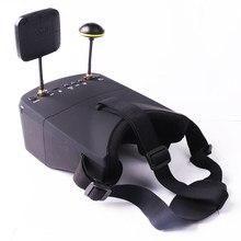 Óculos vr fpv LS-800D g 40ch receptor 5 5.8, monitor 16:9 w/dvr, auto-pesquisa Polegada mah bateria para quadcopter rc avião