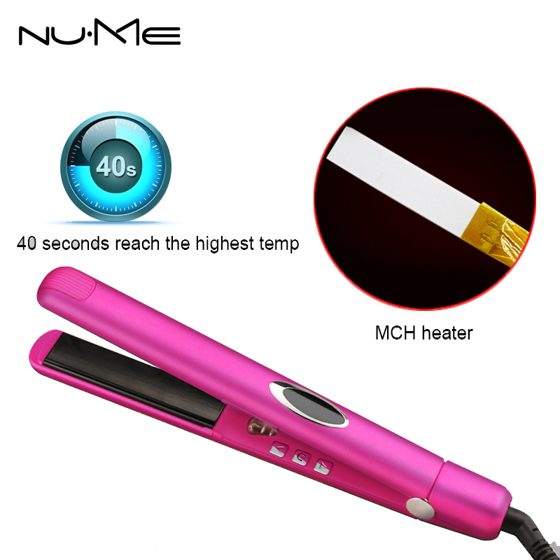 Negative ion Flat Iron Infrared Straightening irons Tourmaline Ceramic Plate Hair Straightener hair curler rollers Styling Tools kemei professional tourmaline ceramic hair straightener flat iron straightening irons styling tools lcd display with 2m cable p0