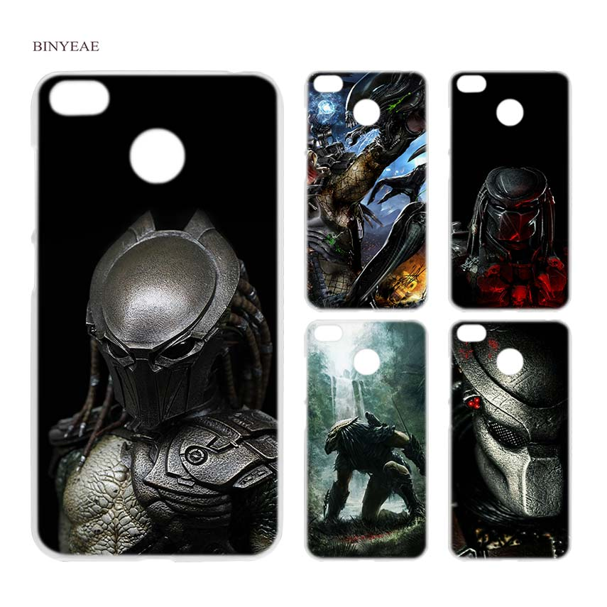 BINYEAE Alien vs Predator Anime Clear Hard Case Cover Shell for Xiaomi MI A2 A1 5X 6X Redmi Note 4X 4 4A 5 Plus