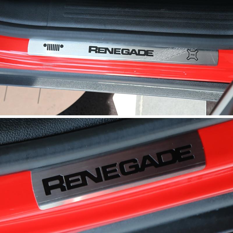 Za Jeep Renegade 2015 2016 2017 zaščitna plošča za zaščito pred - Dodatki za notranjost avtomobila - Fotografija 6