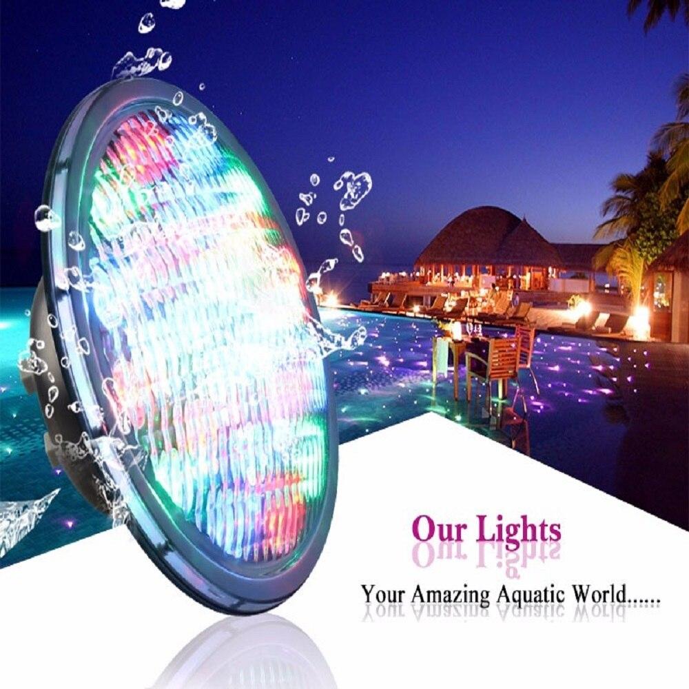 SOL LED IP68 RGB LED lampe sous-marine projecteur étanche avec télécommande pour piscine étang fontaine Aquarium 18 LED
