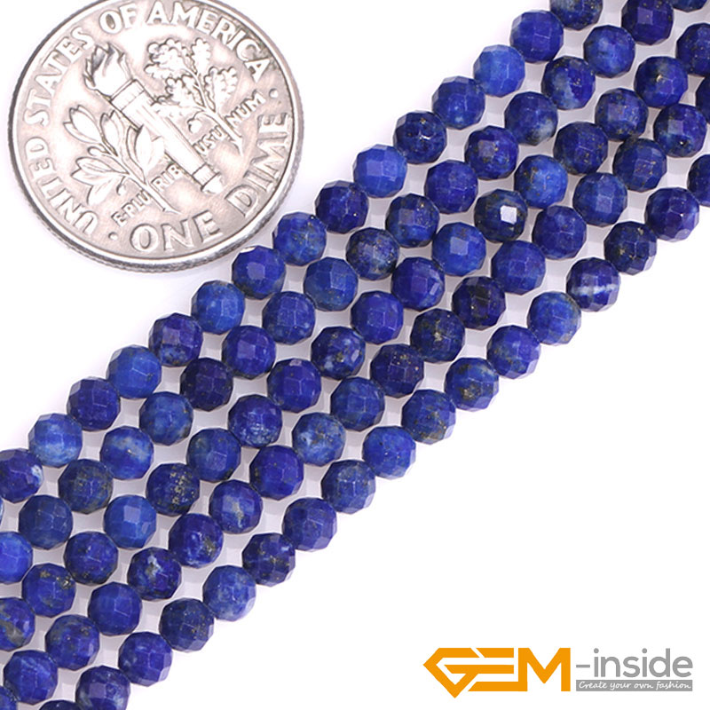 2MM DISCO BLUE SANDSTONE GEMSTONE BLUE FACETED ROUND 2MM LOOSE BEADS 16/""