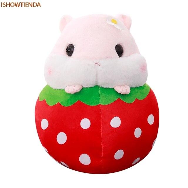 Милый хомячок плюшевые игрушки животных фрукты хомяк Kawaii Снятие Стресса Squeeze игрушки сбор Fun снятие стресса Прямая поставка