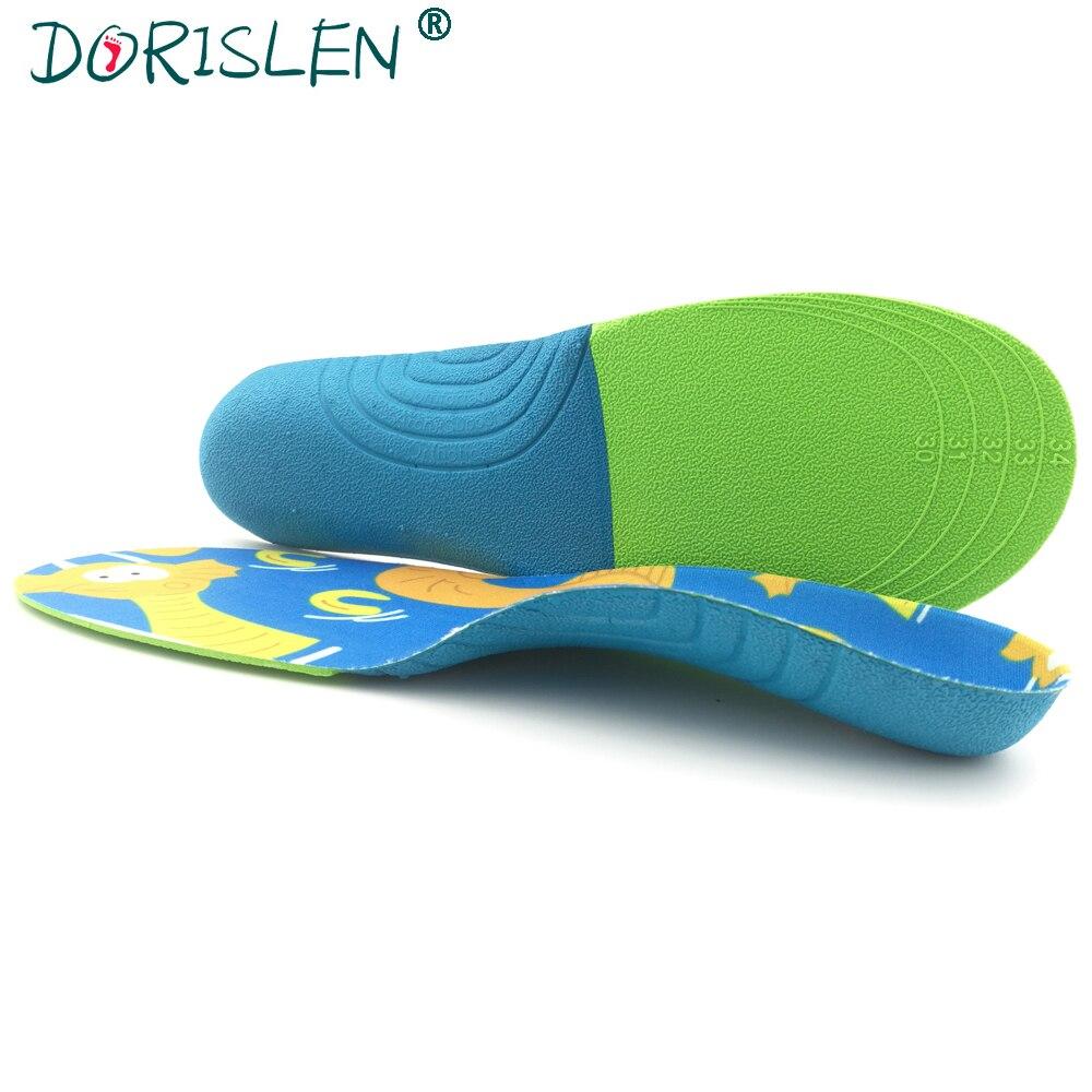 DORISLEN Cartoon EVA Children Orthotic Insole 2.5cm Arch Support For Flat Feet Correction XS-L