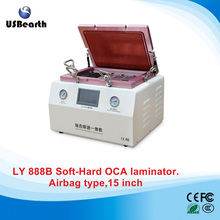 LY 888B 15 inch Soft to Hard airbag OCA laminating machine with S6 S6+ S7 NOTE4 EDGE OCA moulds NO tax to EU