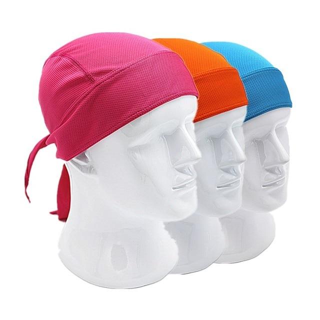 Outdoor Quick Dry Pure Cycling Cap Head Scarf Headscarf Headband Summer Men Running Riding Bandana Ciclismo Pirate Hat Hood 2