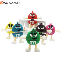 new cartoon M chocolate beans USB flash drive usb2.0 4GB 8GB 16GB 32GB 64GB pea notebook U disk Pendrive memory stick