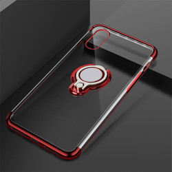 Luxury Phone For Clear Case On iPhone X Cover Cases Bags Coque Slim For Silicone Case iPhone X Ring Kickstand Black 5