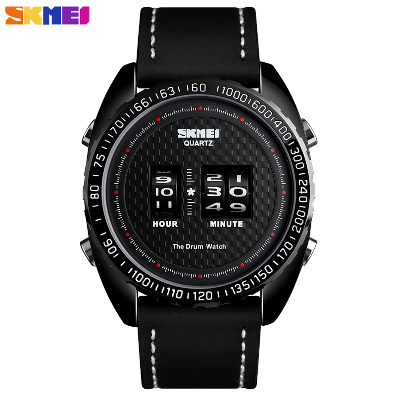 <font><b>Skmei</b></font> New Luxury Business Men's Watch Outdoor Sport Watches Leather Strap Clock Waterproof Quartz Wristwatches Relogio Masculino image