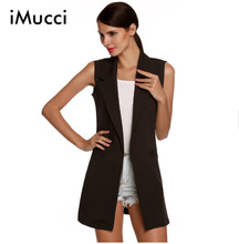 Plus Size Waistcoat Women Autumn Sleeveless Vest Jacket Long Thin Cardigan Joker Coat Outwear for Women Size M-2XL 3 Colors