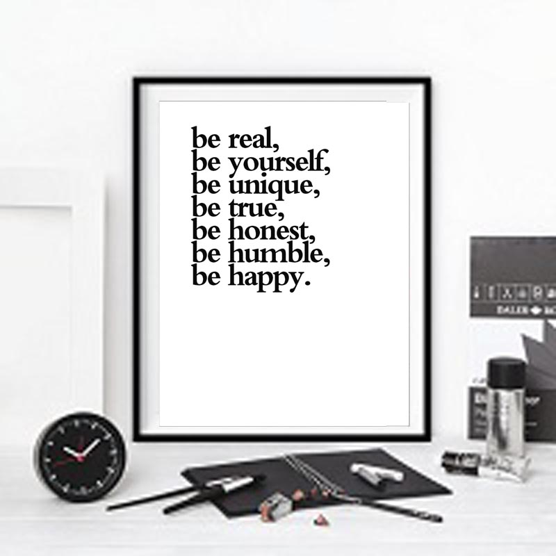 be yourself Inspirational Quotes Canvas print wall painting picture for Home Office Decor,frame not include image