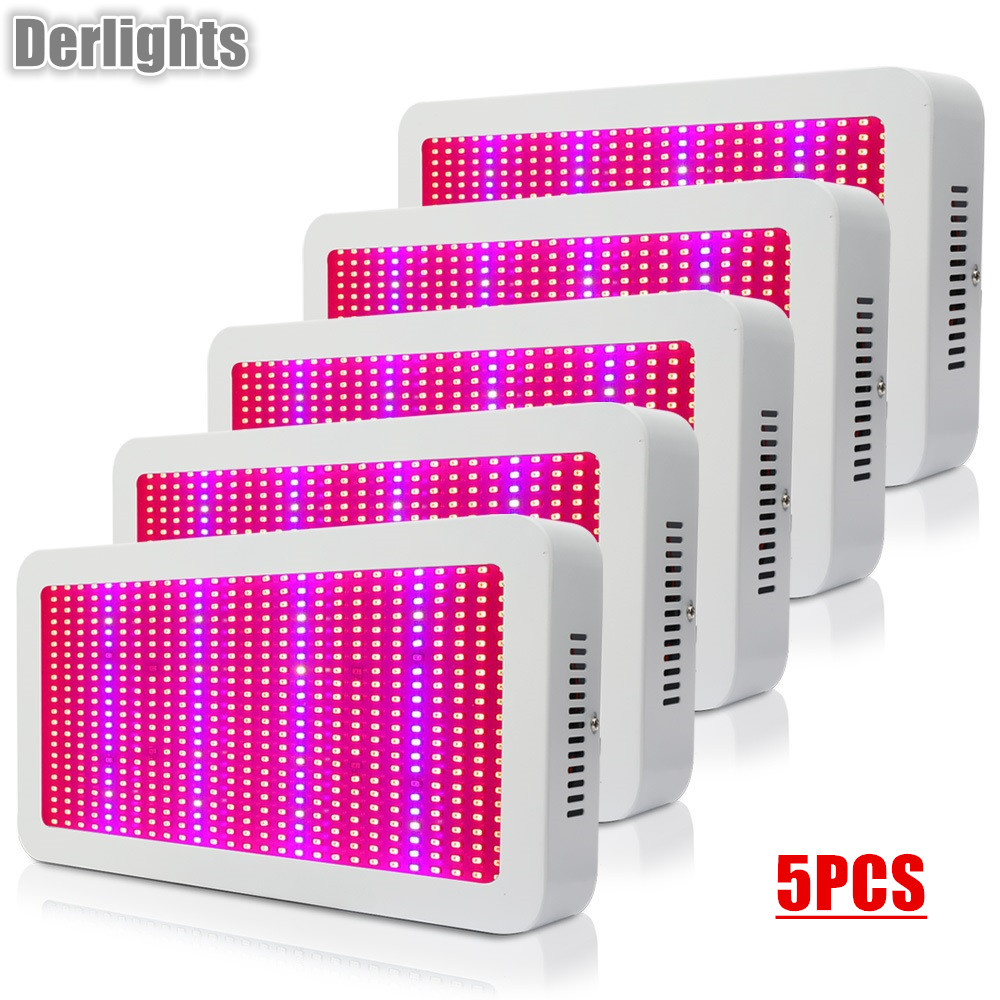 5PCS 600W LED Grow Light Full Spectrum Red+Blue+White+UV+IR AC85~265V SMD5730 Led Greenhouse Plant Light For All Indoor Plants 600w double chip 100 leds red grow light full spectrum uv ir for indoor greenhouse plant and flower