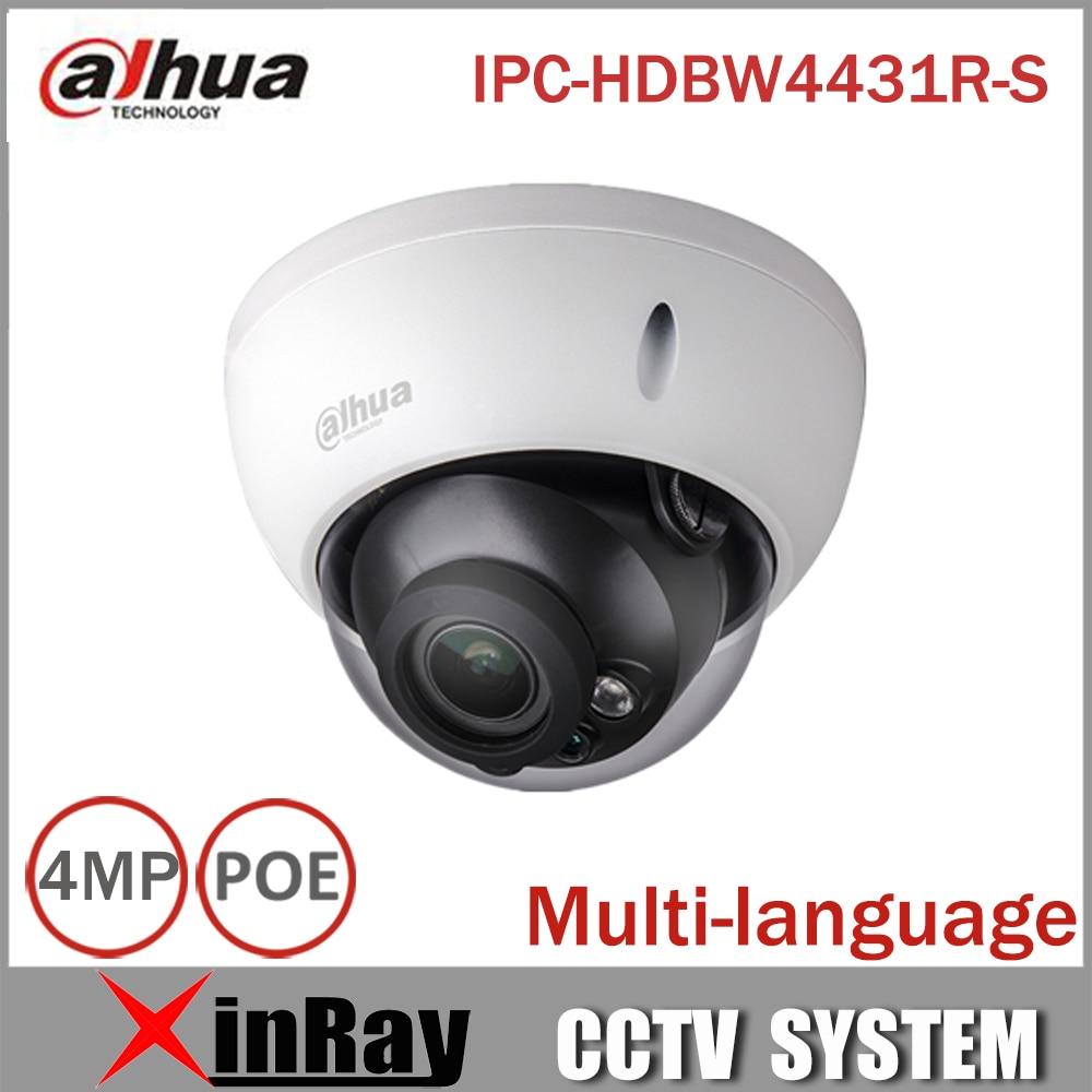 Dahua POE IPC HDBW4431R S 4MP IP Camera Replace IPC HDBW4421R Support IK10 IP67 Waterproof with