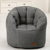 Ленивый Кресло мешок стул творчества один ткань погремушка стул спальня татами портативный кресло мешок диван кровать totoro складной диван