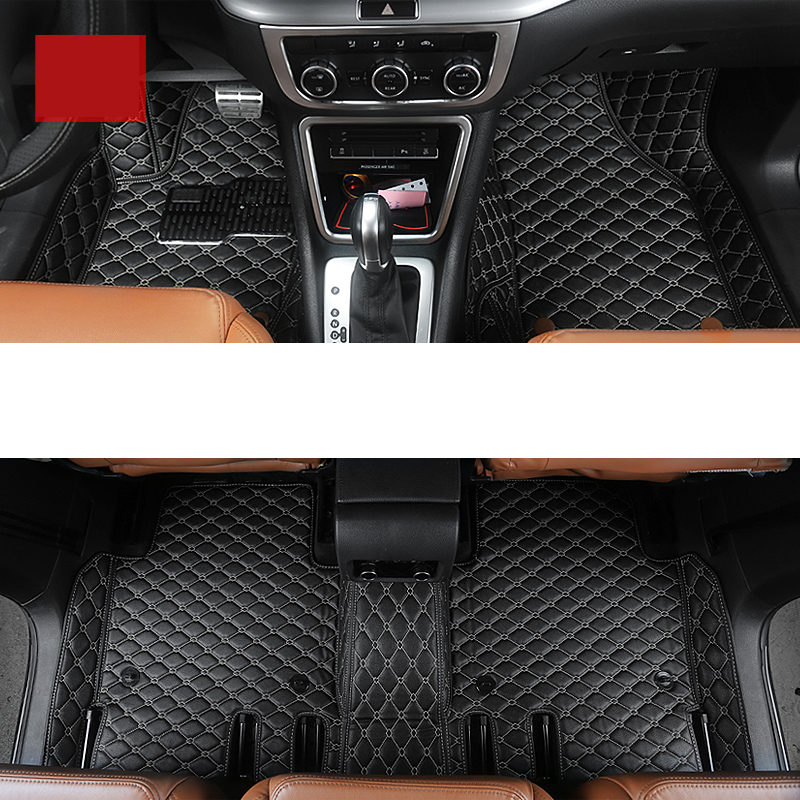 lsrtw2017 fiber leather car internal floor mat trunk mat for volkswagen sharan seat Alhambra 2011-2018 2017 2016 2015 2014 2013 all surround car trunk mat for volkswagen vw 2017 tiguan l anti slip leather trunk pad customized floor mat 3d car style