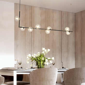 Originally patented chandelier Nordic creative minimalist style restaurant bar front desk personalized glass ball Chandelier