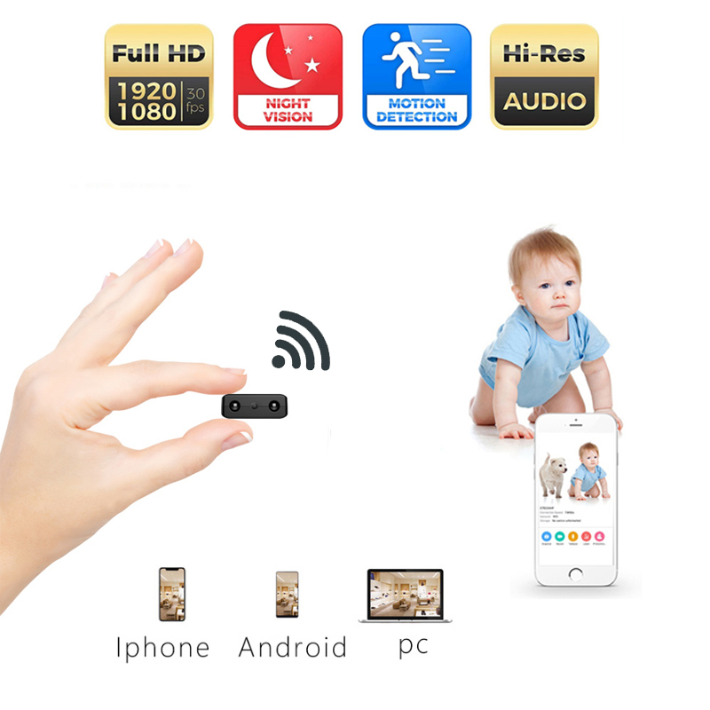 The Newest HD Mini Wifi Camera Infrared Night Vision Surveillance IP/AP Camera Motion Detect Remote Alarm Camcorder Max 128GThe Newest HD Mini Wifi Camera Infrared Night Vision Surveillance IP/AP Camera Motion Detect Remote Alarm Camcorder Max 128G