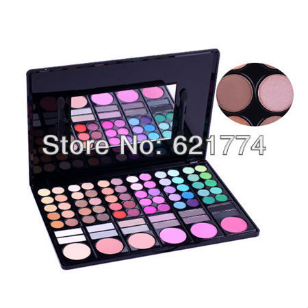 Hot Selling 78 Color Cosmetic Make Up Eyeshadow and Blusher Makeup Eye Shadow Palette Free Shipping