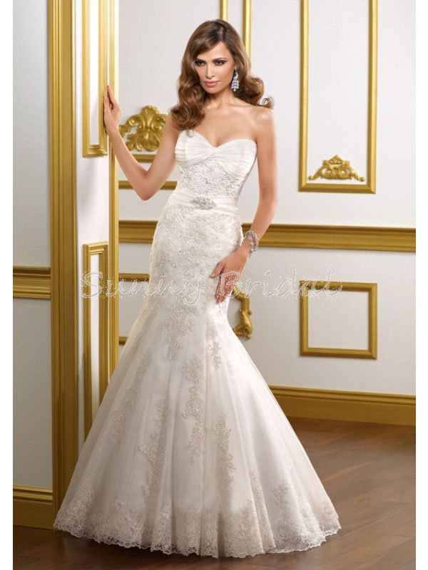 free shipping beaded trumpet lace applique wedding dress 2012 spring style wd67 in wedding dresses from weddings events on aliexpresscom alibaba group