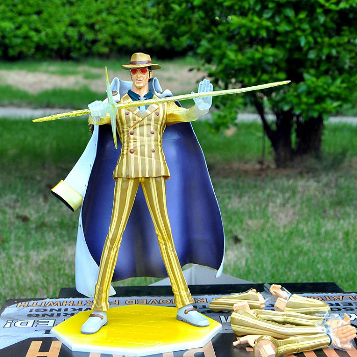 One Piece action figure One Piece Yellow Monkey Kizaru NEO-DX P.O.P Excellent Model PVC figure 24cm High toys free shipping pop one piece sabo with devil fruit pvc action figure toys collective doll 10 25cm free shipping