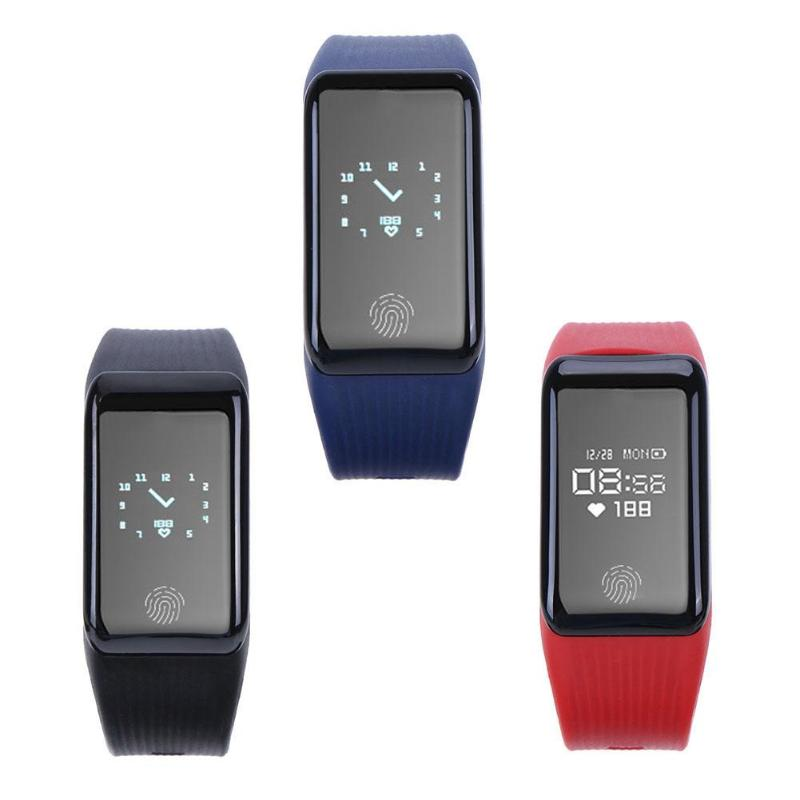 IP67 Waterproof Smart band Bracelet Heart Rate Monitor Pedometer Fitness tracker Smartband Wristband for iOS Android