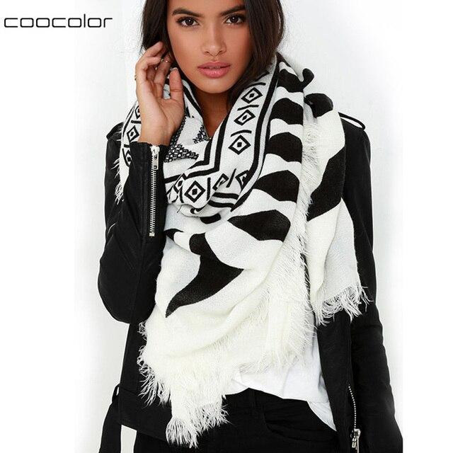Новинка марка осень зима Scraf черный белый шарф для женщины платок одежда аксессуары шарфы и обертывания