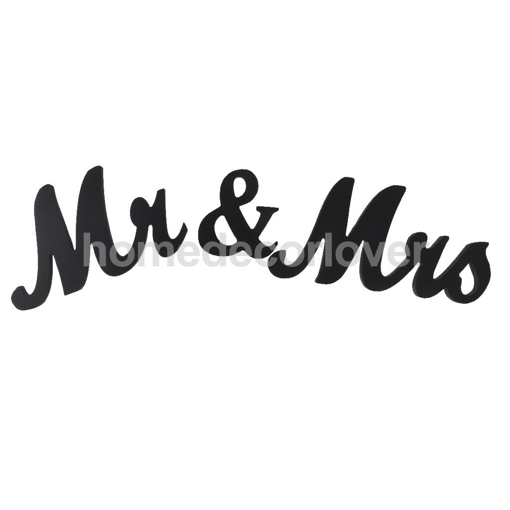 mr mrs black wooden letters wedding standing sign decor table centerpiecechina mainland