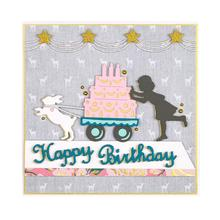 BM Birthday girl  Metal Cutting Dies Stencils For Card Making Decorative Embossing Suit Paper Cards DIY Scrapbooking