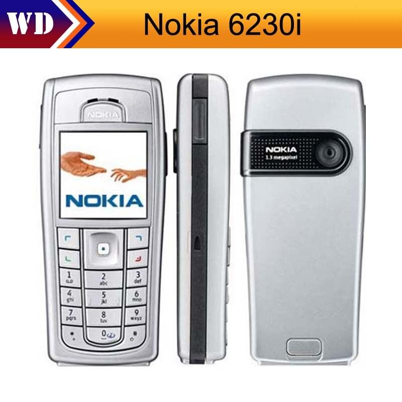 Цена за 6230i Оригинальный Разблокирована Nokia 6230i Отремонтированы Сотовый Телефон Bluetooth MP3 Мобильный Телефон Бесплатная Доставка