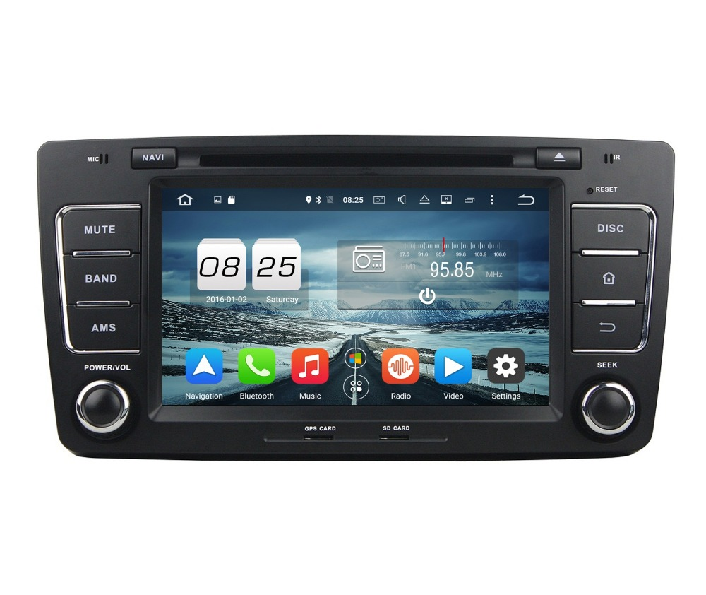 Octa Core 2 din 8 Android 6 0 Car DVD GPS for Skoda Octavia 2012 With