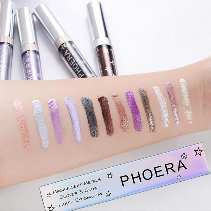 Contemplative Phoera Liquid Eyeshadow Long Lasting Easywear Glitter Waterproof Maquiagem Shimmer Eyes Cosmetics Eye Shadow Makeup Fluorescence Beauty & Health Eye Shadow
